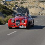 Oris Rally Clasico:Zweiter in der Wertung Regularity Baja: der Jaguar XK 150 von Peter Rust/Hans Keller